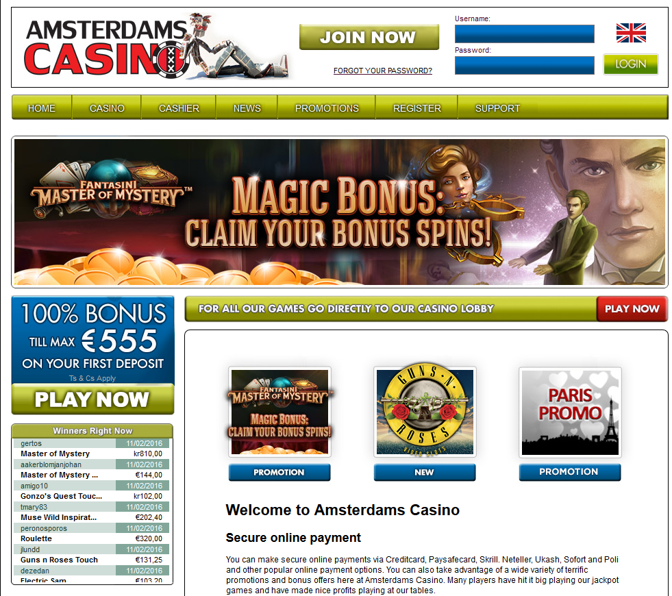 Amsterdams Casino Screenshot