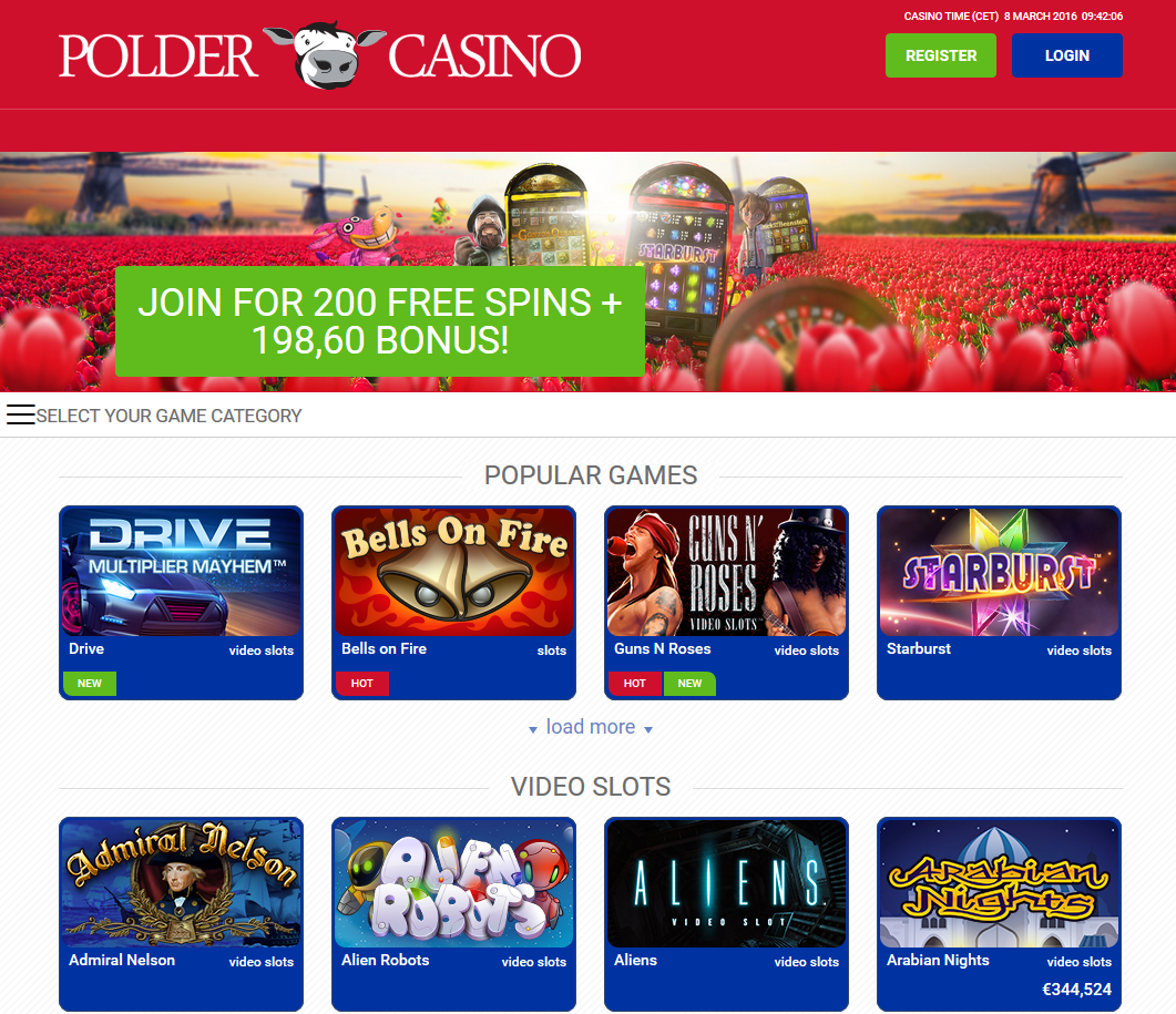 Polder-Casino-Screenshot